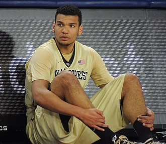 Devin Thomas (basketball) - Thomas with Wake Forest in December 2014