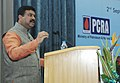 Dharmendra Pradhan addressing after releasing the Design Guidelines for Energy Efficient Multi-Storey Residential Buildings, developed by Bureau of Energy Efficiency( BEE) under Ministry of Power, in New Delhi.jpg