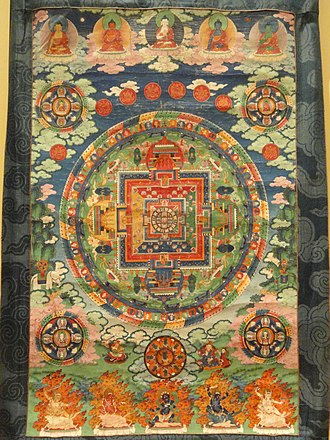 Buddhist deities - Mandala of the five Buddha families