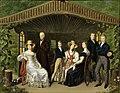 Die kaiserliche Familie um den Herzog von Reichstadt in einer Gartenlaube.jpg