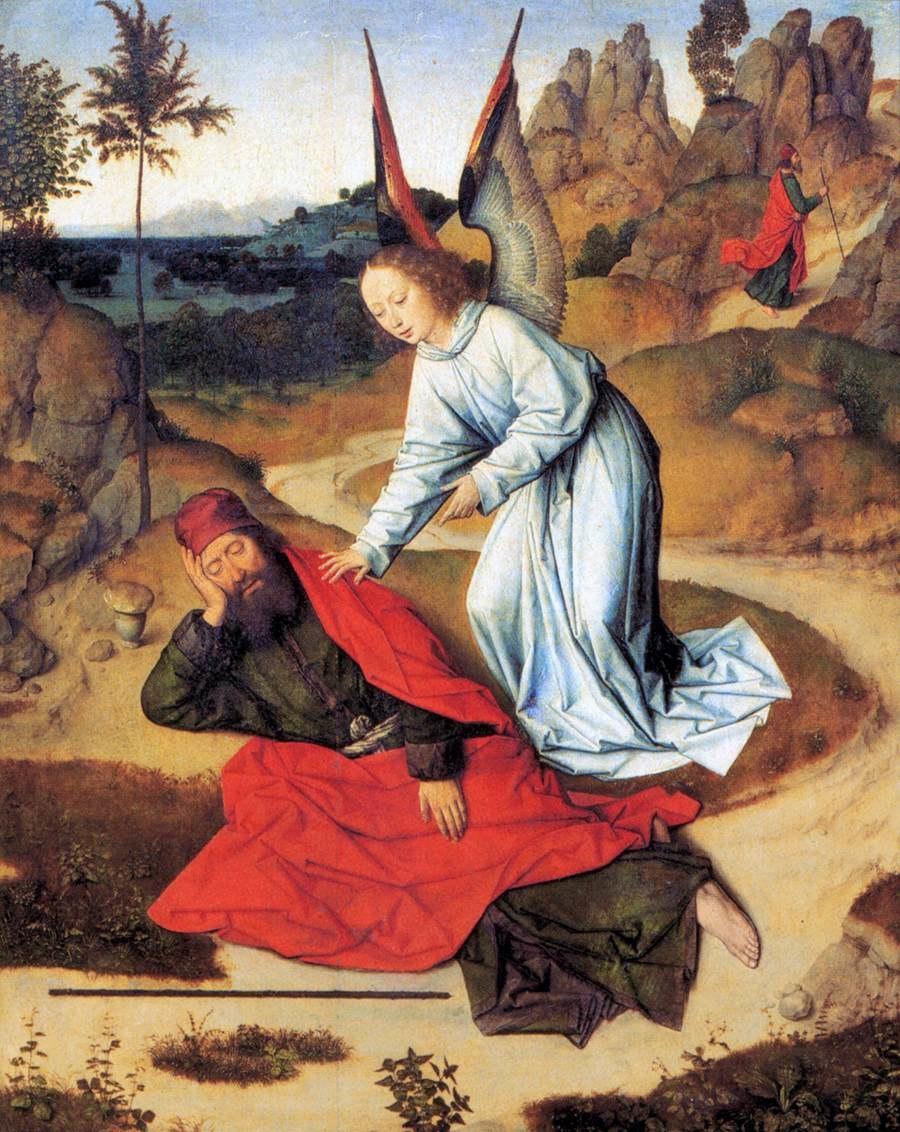 Dieric Bouts - Prophet Elijah in the Desert - WGA03015