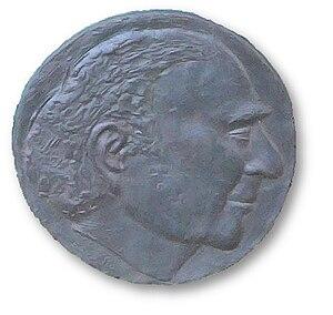 Dieter Oesterlen - Plaque with Oesterlen's face