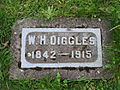 Diggles, Lone Fir Cemetery, May 2012.JPG