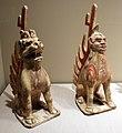Dinastia sui, coppia di figure guardiane, 581-618 dc ca.jpg