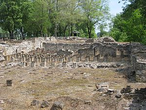 Dion, Pieria - Hypocaust of ancient public baths