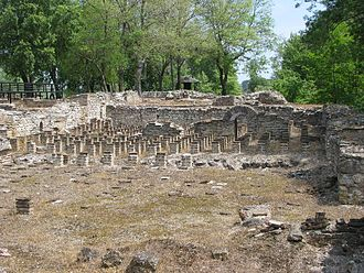 Dion, Pieria - Hypocaust of ancient public baths