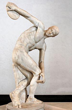 "So-called ""Lancelotti Discobolus"". Marble, Rom..."