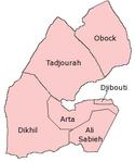 Peta kawasan di Djibouti