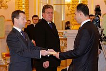 Dmitry Medvedev with Fayed Mustafa.jpg