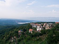 View from Dobrinj towards Čižići.