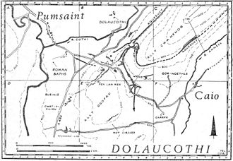 Leat - Map of the Roman gold mine