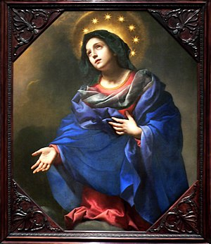 Circle of stars - Carlo Dolci, Madonna in Glory, c. 1670, oil on canvas, Stanford Museum, California