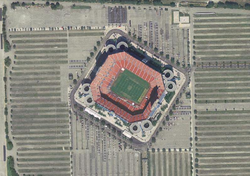 Aerial view of Sun Life Stadium.