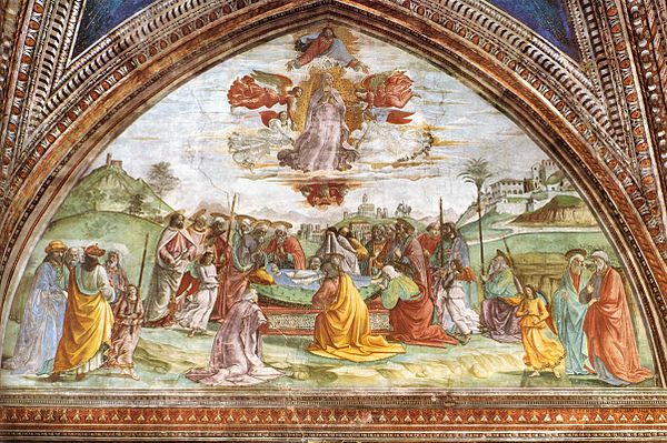 Domenico Ghirlandaio - Death and Assumption of the Virgin - WGA8844.jpg