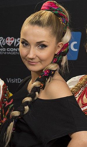 Cleo (Polish singer) - Image: Donatan & Cleo, ESC2014 Meet & Greet 22 (cropped)