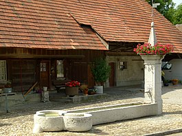 Mattstetten village fountain