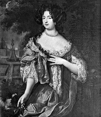Dorothea of Schleswig-Holstein-Sonderburg-Glücksburg - Portrait by Jacques Vaillant, 1682