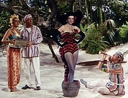 Dorothy Lamour, Bing Crosby, Jane Russell and Bob Hope in Road to Bali.jpg