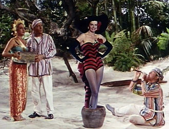 Jane Russell - With Dorothy Lamour, Bing Crosby, and Bob Hope in Road to Bali (1952)