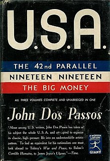 <i>U.S.A.</i> (trilogy) Series of novels written by John Dos Passos