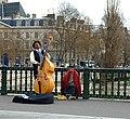 Double-bassist, Pont d'Arcole, Paris 2008.jpg