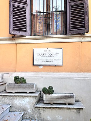 Giulio Douhet - General Douhet home in Rome, today