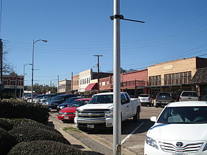 Jasper, Texas - Downtown Jasper from corner of Lamar and Zavalla