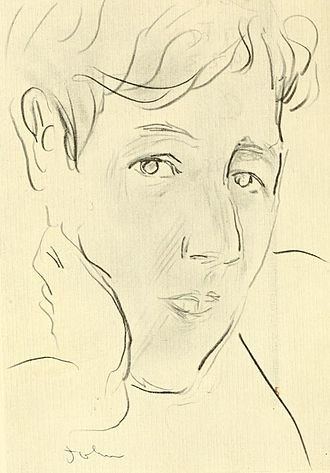 Ronald Firbank - Drawing of Ronald Firbank, by Augustus John