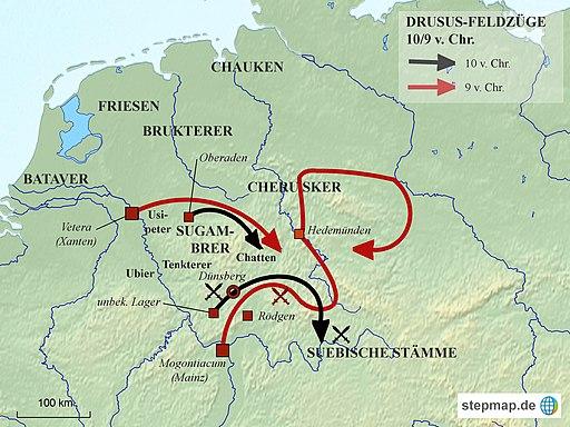 Drususfeldzuege 10-9-v-Chr