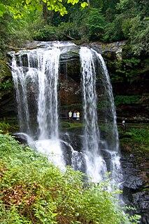 Cullasaja River Stream in North Carolina, USA
