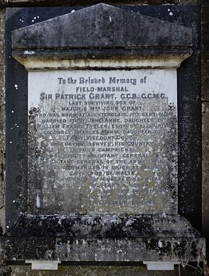 Patrick Grant - Memorial to Field Marshal Sir Patrick Grant in Duthil Old Parish Church and Churchyard