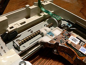 Linear actuator - DVD drive with leadscrew and stepper motor.