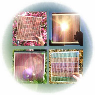 Dye-sensitized solar cell - A selection of dye-sensitized solar cells.