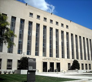 The E. Barrett Prettyman Federal Courthouse lo...