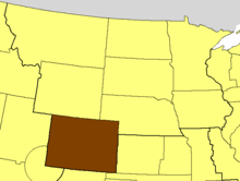 Location of The Episcopal Church in Colorado