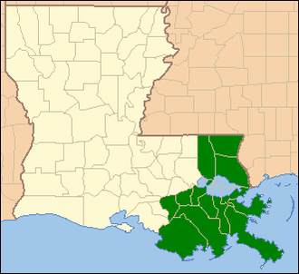 United States District Court for the Eastern District of Louisiana - Image: EDLA map