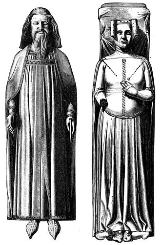 Philippa of Hainault - Effigies of Edward III and Philippa of Hainaut