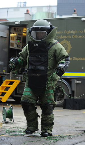 Ordnance Corps (Ireland) - A member of an Irish Army Explosive Ordnance Disposal (EOD) team