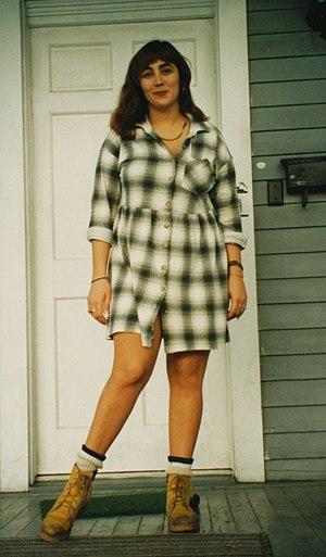 Shirtdress - A modern form of shirt-dress.