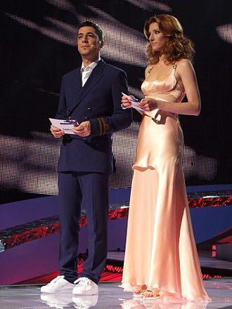 Željko Joksimović - Željko Joksimović together with Jovana Janković during the first semi-final ESC Belgrade 2008.