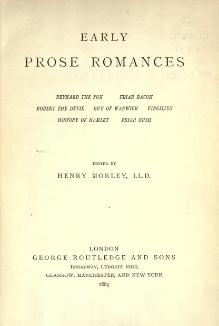 Early prose romances (Morley, 1889).djvu