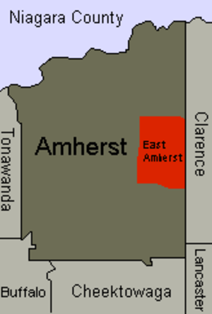 East Amherst, New York - The town of Amherst with East Amherst shown in red