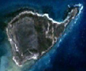 East Wallabi Island - Satellite image