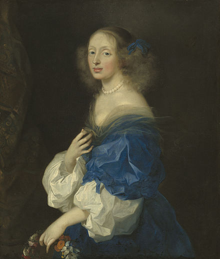 Ebba Sparre married in 1652 a brother of Magnus Gabriel de la Gardie. Painting by Sebastien Bourdon Ebba Sparre.jpg
