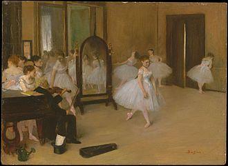 The Dancing Class - Image: Edgar Degas Chasse de danse