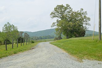 Edge Hill (Shadwell, Virginia) - Entrance to the estate
