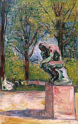 Le Penseur De Rodin Dans Parc Du Docteur Linde Lbeck