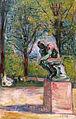 Edvard Munch, Le Penseur de Rodin dans le parc du Docteur Linde à Lübeck, 1907 .jpg