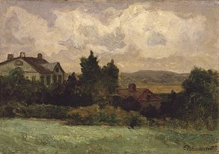 Untitled (houses and trees)