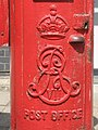 Edward VII postbox, Crescent West, Hadley Wood - royal cipher - geograph.org.uk - 1403211.jpg